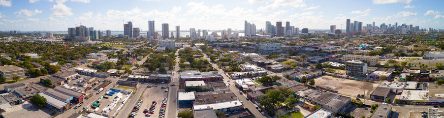Aerial image of Wynwood Miami