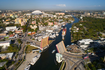 Aerial image of the Miami River