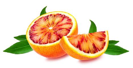 Red orange fruit isolated on white