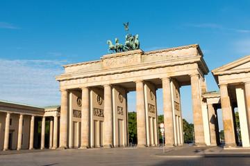 Foto op Aluminium Berlijn The famous Brandenburg Gate in Berlin on a sunny day