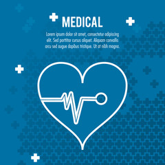 heartbeat medical health care vector illustration eps 10
