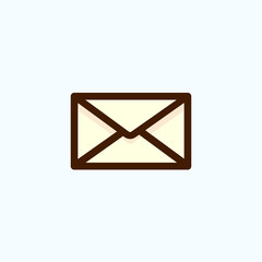 Envelope mail icon, vector