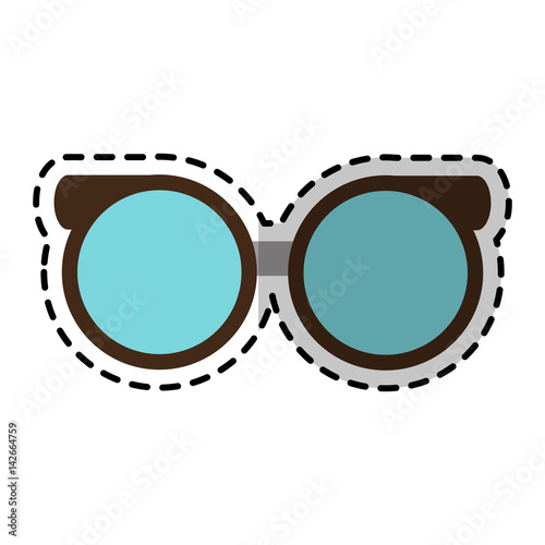 40577832300 round glasses frame icon image vector illustration design