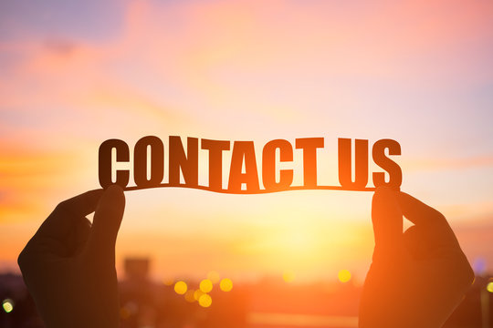 silhouette contact us word