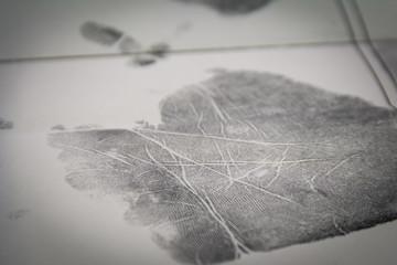 Handprint hand on paper