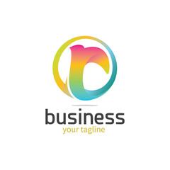 3d Colourful Letter 'r' Logo