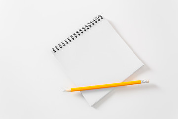 Blank white paper note