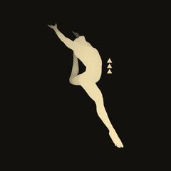 Gymnast. 3D Human Body Model. Gymnastics Activities for Icon.