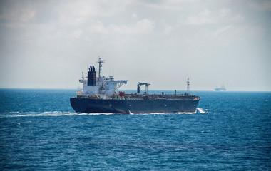 Motor Tanker Sailing on the High Sea