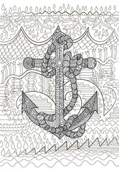 Black and white illustration of an anchor