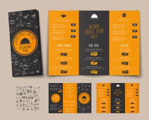 Design of a folding menu for cafes and restaurants.