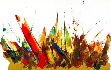 Wilde Farbschmiererei oder abstrakte Kunst