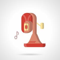 Brass tuba music flat color vector icon