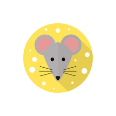Mouse icon in flat design