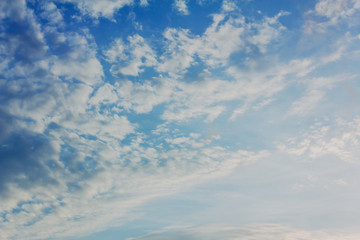 Cloudy sky. Blue sky with clouds.