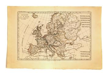 アンティークの古地図
