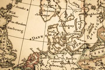 アンティークの古地図 北ヨーロッパ