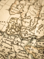 アンティークの古地図 北ヨーロパ