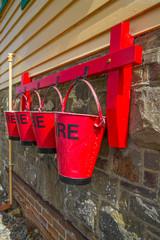 Fire buckets at SIgnal Box, Instow, Devon