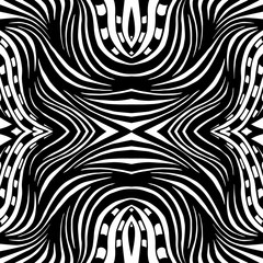 Abstract seamless background of doodle hand drawn lines. Colorful pattern.