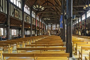 Intérieur de l'église Sainte Catherine à Honfleur