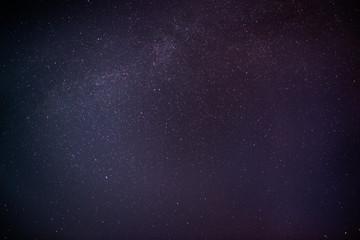 milky way on a dark night sky with stars