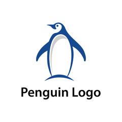 Simple Penguin Vector Logo Symbol