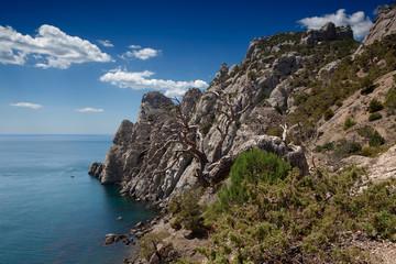 Two Monks Rock and Cosmos Peak in Noviy Svet, Crimea
