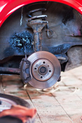 Repair of the suspension of the old machine