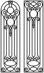 Black and White Isolated Wrought Iron.