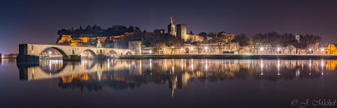 Panorama Avignon Nuit