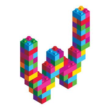 Isometric Alphabet Block