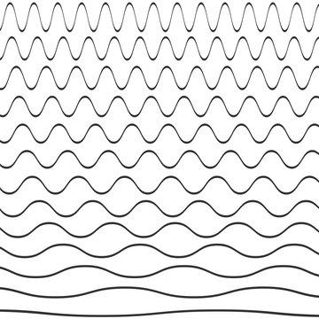 Set of wavy pattern. Vector illustration.