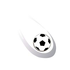 летящий футбольный мяч на белом фоне, векторная иллюстрация