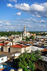 Blick auf Camagüey mit Iglesia Sagrada Corazon de Jesus, Kuba