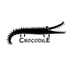 Funny crocodile, sketch for your design