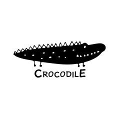 Funny crocodile, sketch for your design
