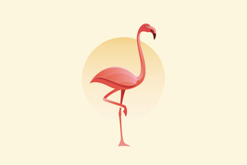 Flamingo Vector Logo