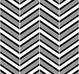 Tile vector chevron pattern with black zig zag on  background