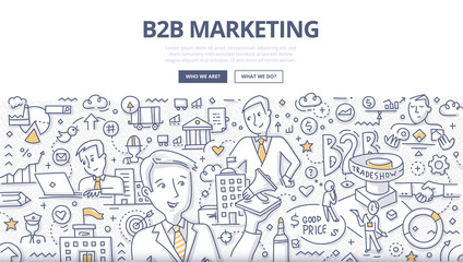 B2B Marketing Doodle Concept