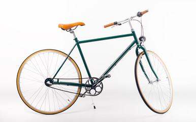 Photo sur Toile Velo Vintage bicycle on white background