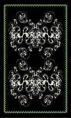 Tarot cards - back design, abstract pattern