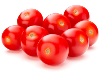 Fototapete - fresh cherry tomato isolated on white background cutout