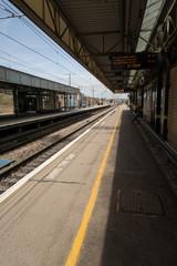 Train station in UK at Milton Keynes Central