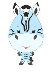 little funny boy zebra