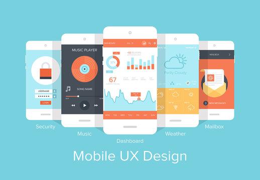 Colorful Mobile UX Design Icon Set 2