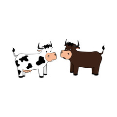 animal farm in field vector illustration design