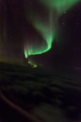 Northern lights from an airplane