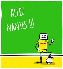 Joueur de football - équipe de Nantes