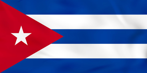 Cuba waving flag. Cuba national flag background texture.